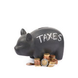 Ceramic piggy bank container isolated Royalty Free Stock Photo