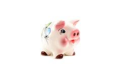 Ceramic piggy bank Royalty Free Stock Photos