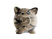 Ceramic piggy bank with painting Stock Photos
