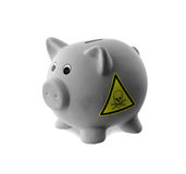 Ceramic piggy bank with painting Stock Images