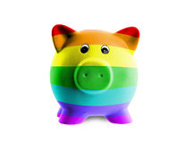 Ceramic piggy bank with painting of flag Royalty Free Stock Image
