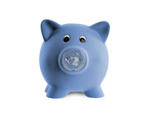 Ceramic piggy bank with painting of national flag Stock Photography