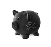 Ceramic piggy bank with painting Stock Photography