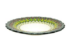 Ceramic plate. Turkey Kutahya çini tabak. Ceramic is the name for materials that are formed by the use of heat. The word ceramic comes from the Greek word Stock Photography