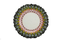 Ceramic plate. Turkey Kutahya çini tabak. Ceramic is the name for materials that are formed by the use of heat. The word ceramic comes from the Greek word Royalty Free Stock Photos