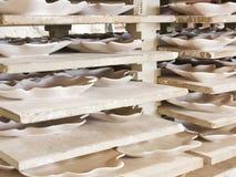 Ceramic plates Stock Photography