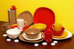 Ceramic plates Royalty Free Stock Image