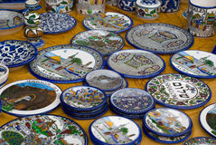 Ceramic plates Royalty Free Stock Images