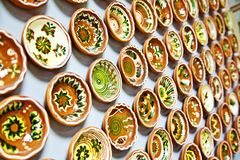 Ceramic plates Stock Images