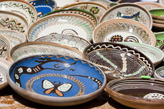 Ceramic plates Stock Photo