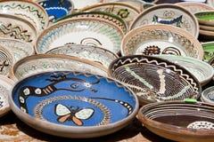 Ceramic plates Stock Photo