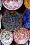 Ceramic plates on the market Stock Photography