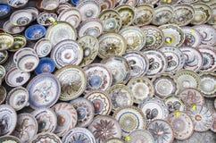 Ceramic plates Royalty Free Stock Photos
