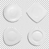Ceramic plates shapes 3D vector illustration vector illustration