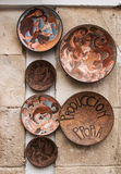 Ceramic plates in Spain Stock Photography