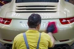 Ceramic polished car stock image
