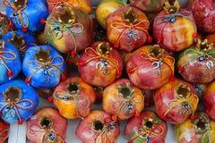 Ceramic Pomegranate Souvenirs, Tinos Stock Images