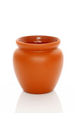 Ceramic pot. On white background Royalty Free Stock Photography