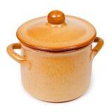 Ceramic pot isolated on white background Royalty Free Stock Images