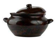 Ceramic pot isolated on white background. Beautiful Ceramic pot isolated on white background Royalty Free Stock Image