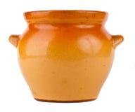 Ceramic pot isolated on white background. Beautiful Ceramic pot isolated on white background Stock Images