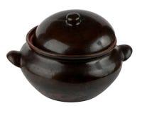 Ceramic pot isolated on white background. Beautiful Ceramic pot isolated on white background Royalty Free Stock Photo