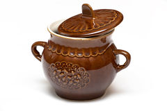 Ceramic pot for kitchen Stock Photography