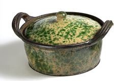 Ceramic pot with lid 2 Royalty Free Stock Photography