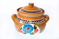Ceramic pot with lid Stock Photos