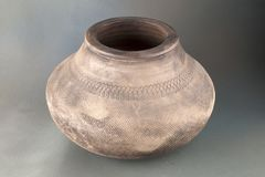 Ceramic pot. A ceramic is a non-metallic solid material comprising an inorganic compound of metal, non-metal or metalloid atoms primarily held in ionic and royalty free stock photos
