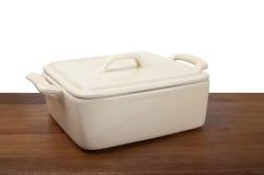 Ceramic pot for stove Stock Image