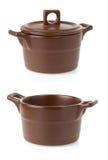 Ceramic pot on white Royalty Free Stock Photo