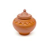 Ceramic pot.  on white background. Royalty Free Stock Photos
