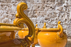 Ceramic pots. Royalty Free Stock Photo