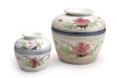 Ceramic pots Stock Images