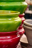 Ceramic pots Royalty Free Stock Images