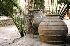 Ceramic pots in Al Ain Stock Photos