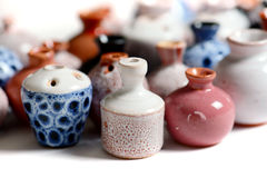 Ceramic pots in glaze Royalty Free Stock Photography