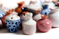 Ceramic pots in glaze Royalty Free Stock Photography