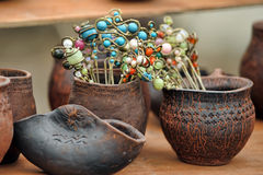 Ceramic pots Stock Photo