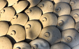 Ceramic pots,jars of clay flower,Thanh Ha handicraft village , Hoi An , Vietnam Stock Photos