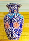 Ceramic hand painted Floral ornament in arabic style. Ceramic pots souvenirs hand painted floral ornament arabic style royalty free stock photo