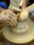 Ceramic potter hands Royalty Free Stock Image