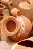 Ceramic pottery at Horezu, Romania Royalty Free Stock Photos