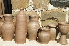 Ceramic pottery products Stock Photography