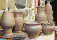Ceramic pottery products Stock Images
