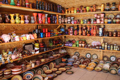 Ceramic Pottery Shop Stock Images