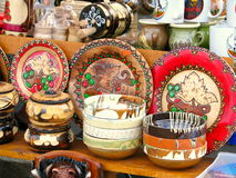 Ceramic pottery and souvenirs Royalty Free Stock Photo