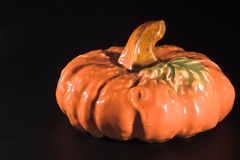 Ceramic pumpkin Royalty Free Stock Image