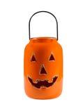 Ceramic Pumpkin Jar isolated on White Royalty Free Stock Image